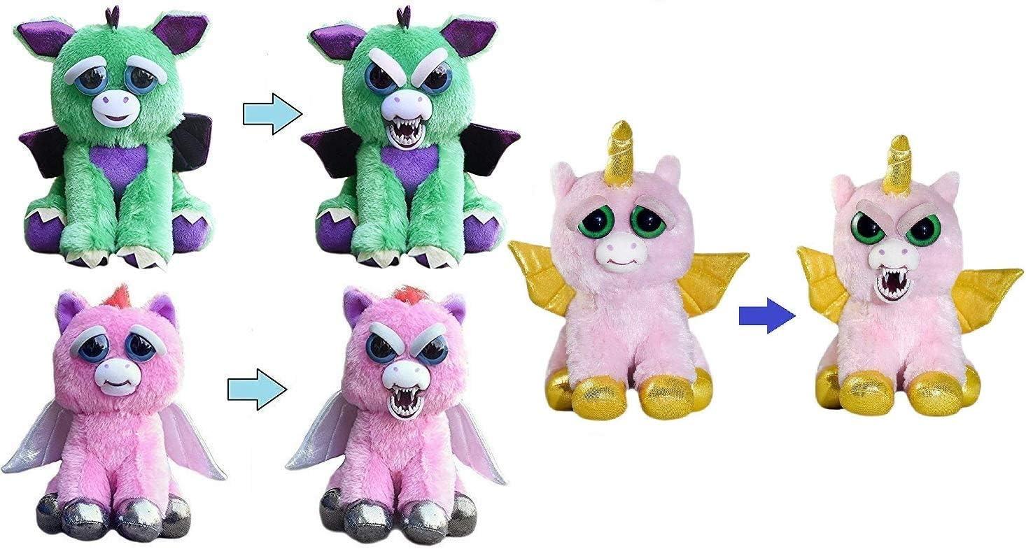 Amazon Com Feisty Pets Mystic Mischief 3 Pack Dragon Pegasus Winged Unicorn Toys Games