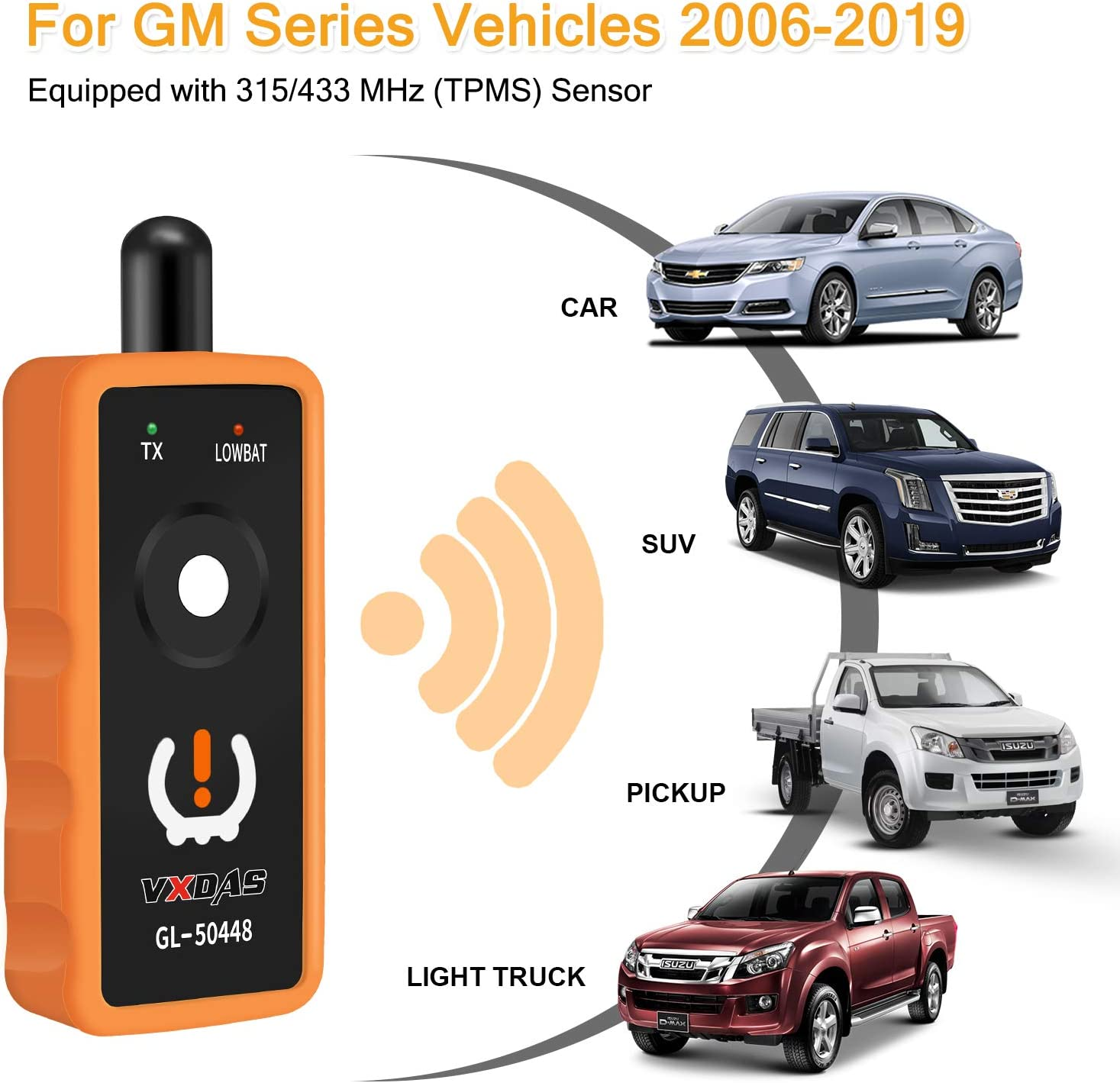 Arozk TPMS Relearn Tool for GM Tire Pressure Monitor System Sensor Programming Training Activation Tool OEC-T5 GL-50448 Auto Reset Tool for GM Series Vehicles 2006-2019