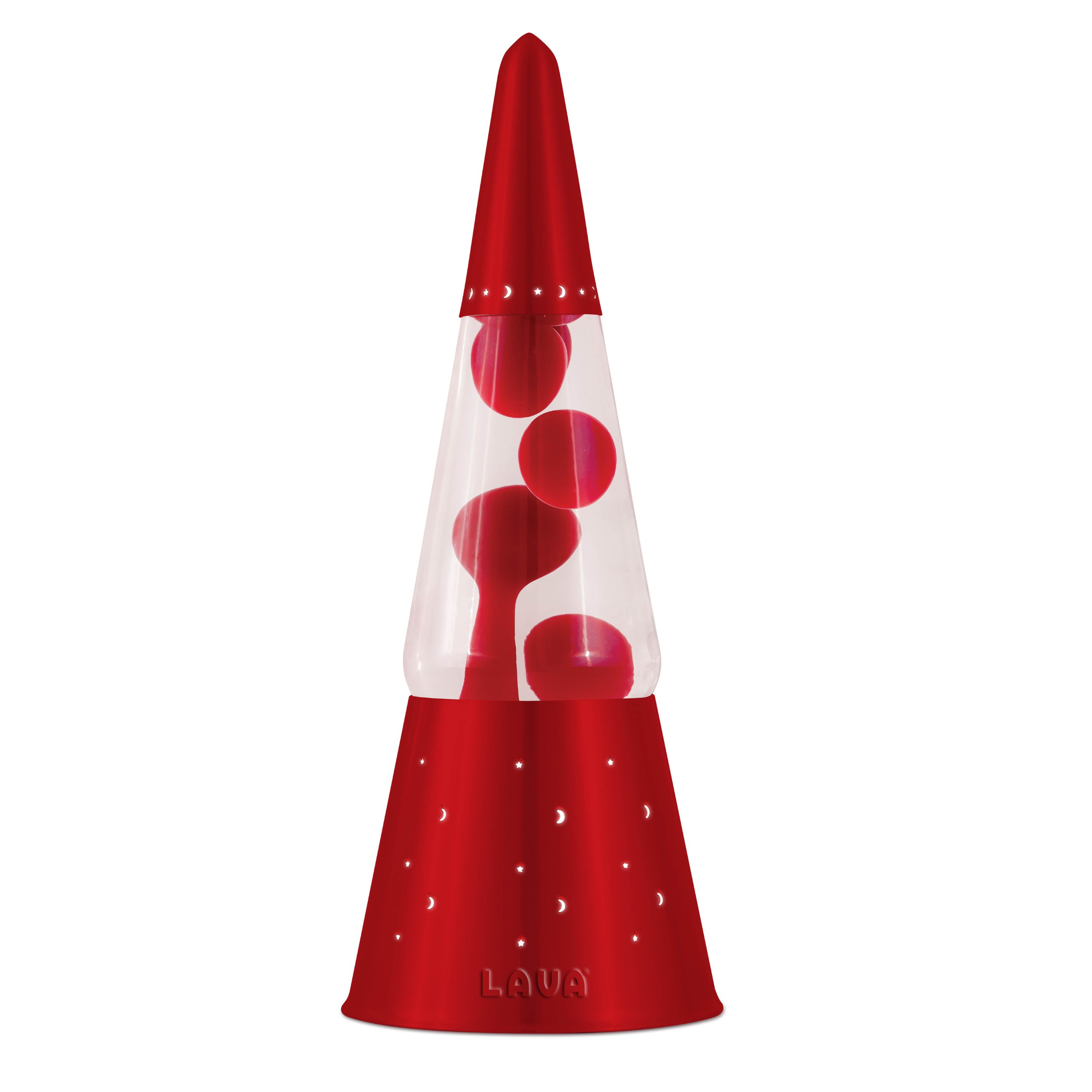 Lava Lite 6020 Heritage Collection 16.3-Inch Wizard Lava Lamp with Red Base, Red Wax/Clear Liquid