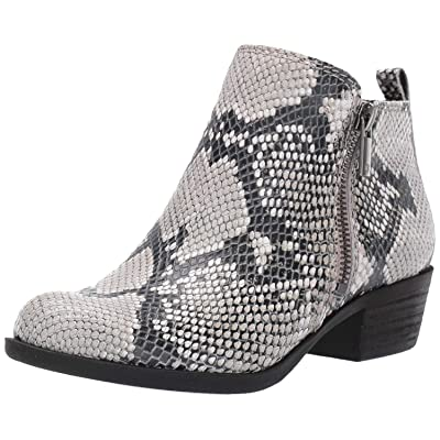 Lucky Brand Women's Basel Black/White Snake Low Cut Ankle Booties | Ankle & Bootie
