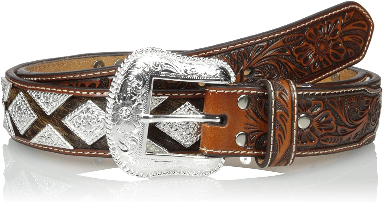 Nocona Mens Pro Metal Shield Bling Belt