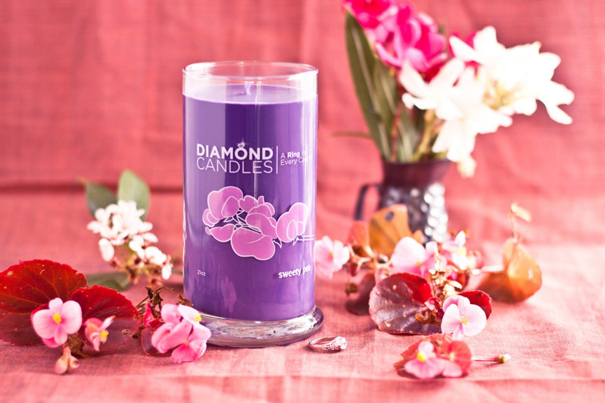 Diamond Candle Ring Candles (Sweety Pea Ring Candle)