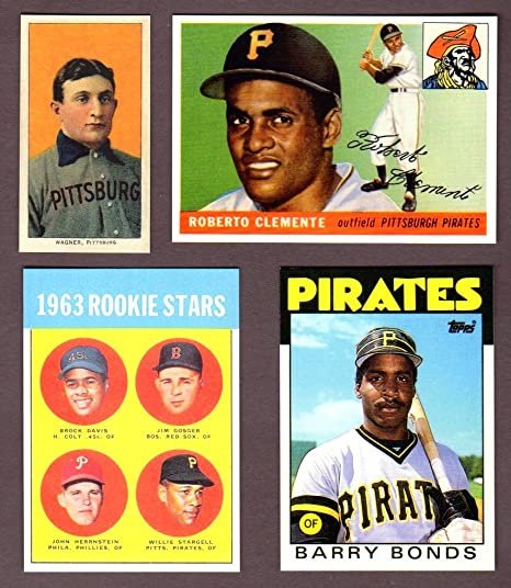 Pittsburgh Pirates Topps Baseball 4 Card Reprint Rookie