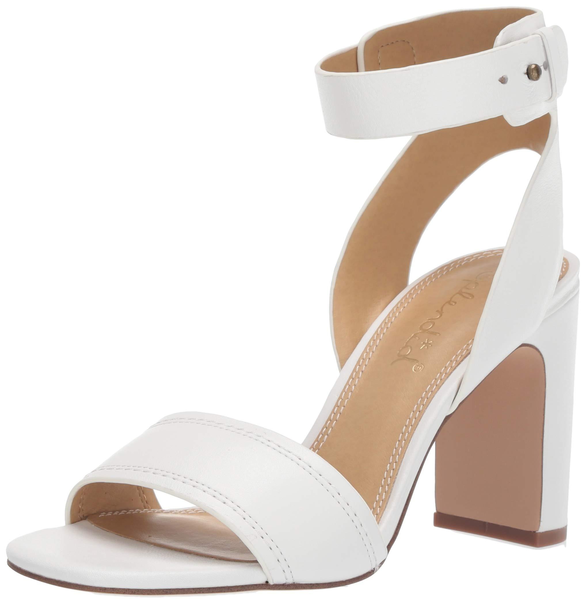 Splendid Women Harding Heeled Sandal, White, 9.5 M US by Splendid