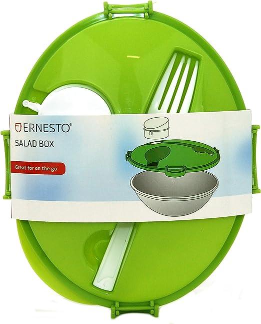 Ernesto - Fiambrera para ensalada con tenedor incorporado y ...