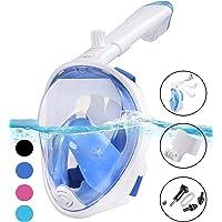 X-Lounger Tauchmaske, Easybreath Faltbare Schnorchelmaske, Anti-Fog Anti-Leak 180° Sichtfeld Dichtung, aus Silikon Vollmaske, Müheloses Vollgesichtsmaske für Anti-Fog für Erwachsene und Kinder