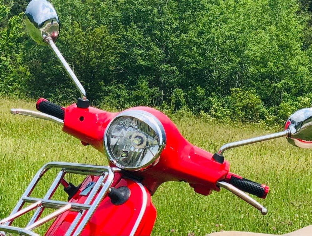 Sei GIORNI GST Super 125 300 para Vespa Elettrica para Vespa 946 Primavera 50 125 150 Gris Motocicleta Extremos del Manillar Mangos de Barra de Agarre Tapas para Piaggio Vespa Sprint 50 125 150