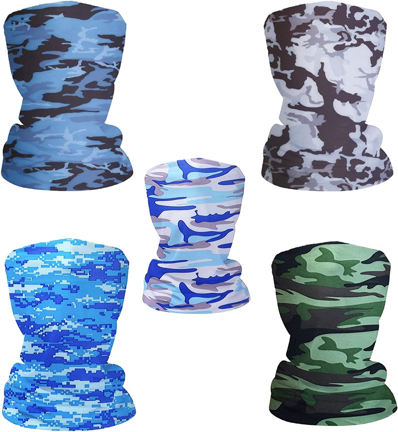 6pcs Magic Scarf Outdoor Headwear Bandana Sports Tube UV Face Mask for Workout Yoga Running Hiking Riding
