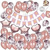 KUNGYO Decoraciones de Feliz Cumpleaños 30 Oro Rosa Happy ...