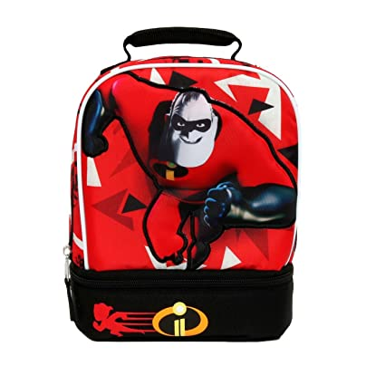 8ade1d052ea Image Unavailable. Image not available for. Color  DISNEY INCREDIBLES 2  Dual Chamber Lead   PVC Safe Insulated Lunch Tote Box