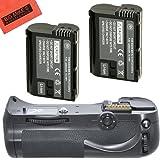 Battery Grip Kit for Nikon D800, D810 Digital SLR Camera Includes Qty 2 Replacement EN-EL15 Batteries + Vertical Battery Grip