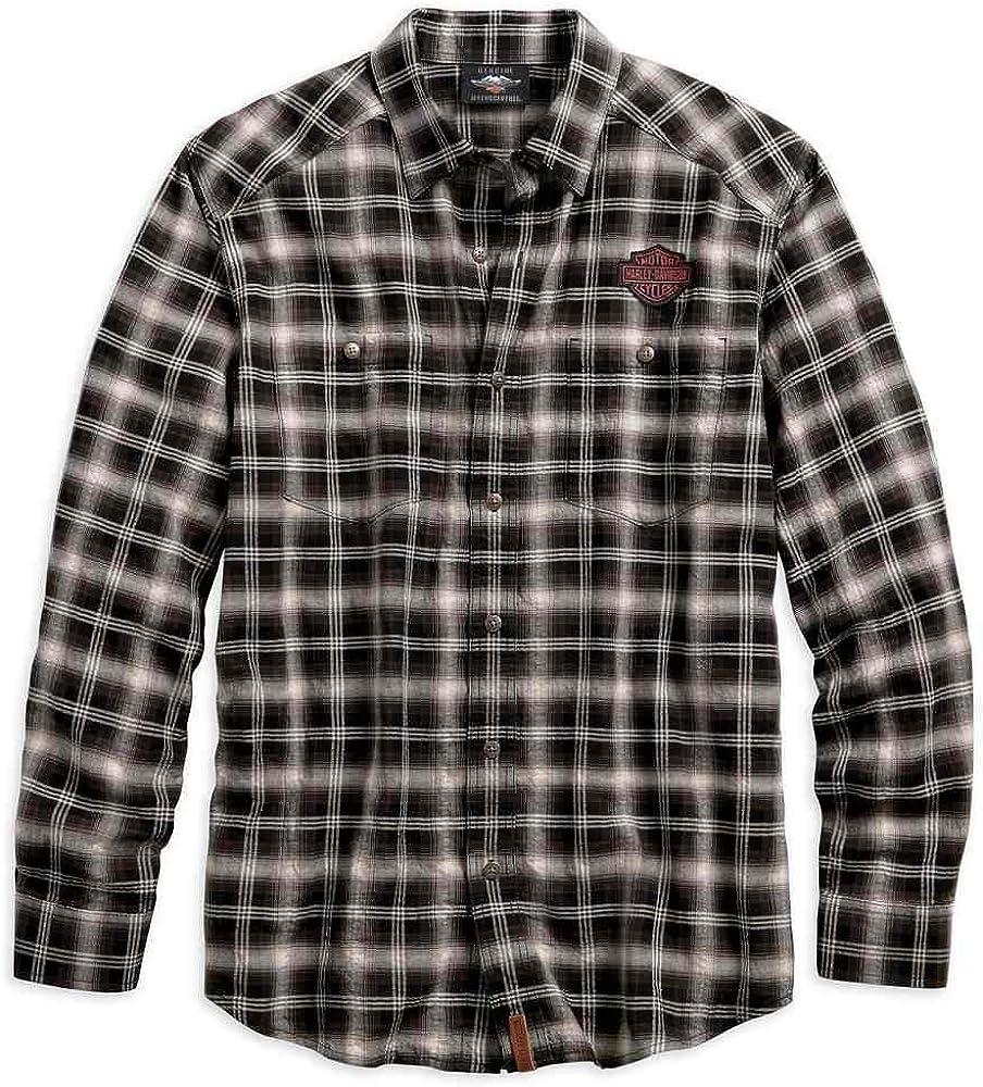 Harley-Davidson 96584-19VM - Camisa de Manga Larga para Hombre con Botones - Negro - 4X-Large: Amazon.es: Ropa y accesorios