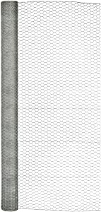 "Origin Point Garden Zone 72in x 150ft 1in Poultry Netting, 72"" x 150', Silver"