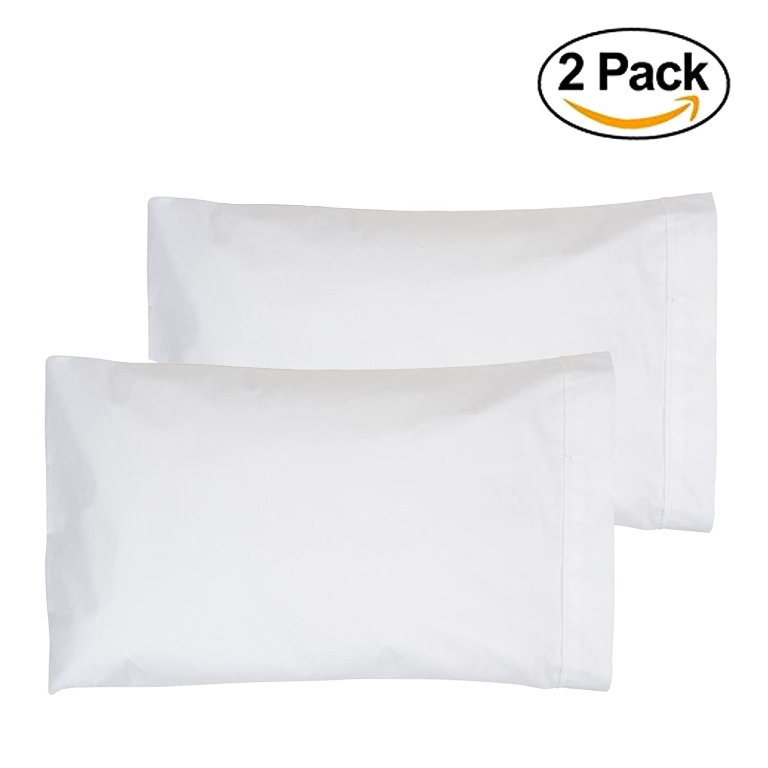 Toddler Pillowcase 13x18 White 2-Pack - Made in USA Angel Dreams