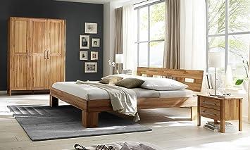 Amazon.de: Schlafzimmer Maria Kernbuche Bett 160x200 (4-tlg.)