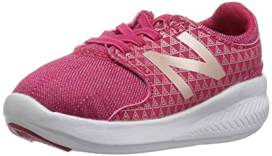 38236bd037642 Image Unavailable. Image not available for. Color: New Balance Girls' Coast  v3 Hook and Loop Running Shoe Magnetic Pink/Metallic 8.5