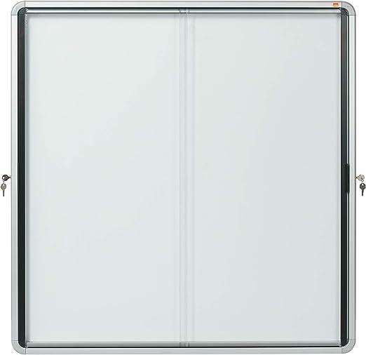 Nobo Vitrina interior Puerta Corredera Metal 12 hojas - tablones para notas: Amazon.es: Hogar