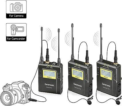 Saramonic Uwmic9 Sistema de micrófono de solapa inalámbrico UHF de ...