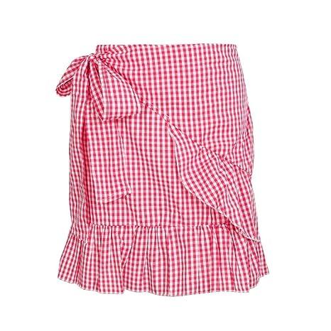 DAHDXD Abrigo Falda Mujer Estampado Floral Mujer Mini Falda A ...