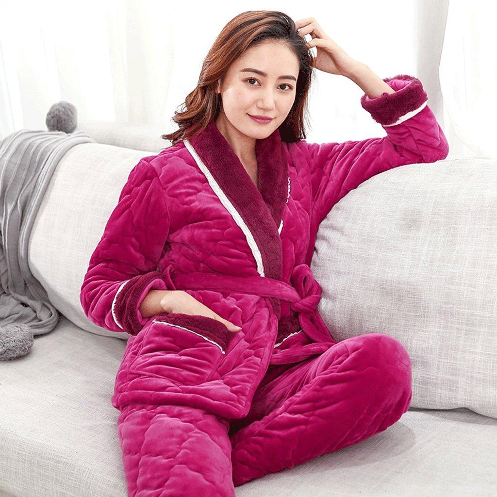 Albornoces Tamaño GAOLILI Conjunto color rojo : pijama Lady de ...