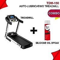 Powermax Fitness TDM-150 (2.5 HP), Smart Run Function, Auto Lubrication, Motorized Treadmill for Cardio Workout