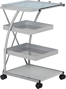 SD STUDIO DESIGNS Modern Triflex Mobile Storage Taboret for Arts and Crafts