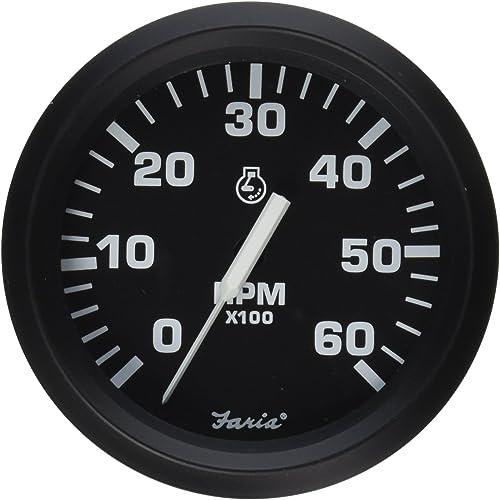 6000 rpm Outboard Marine Tachometer [Faria] Picture