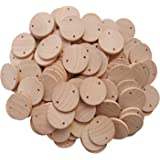 AxeSickle 1.5 inch Wood coins Tags 200 Pcs Wooden Tags For Birthday Boards, Chore Boards or other Special Dates.