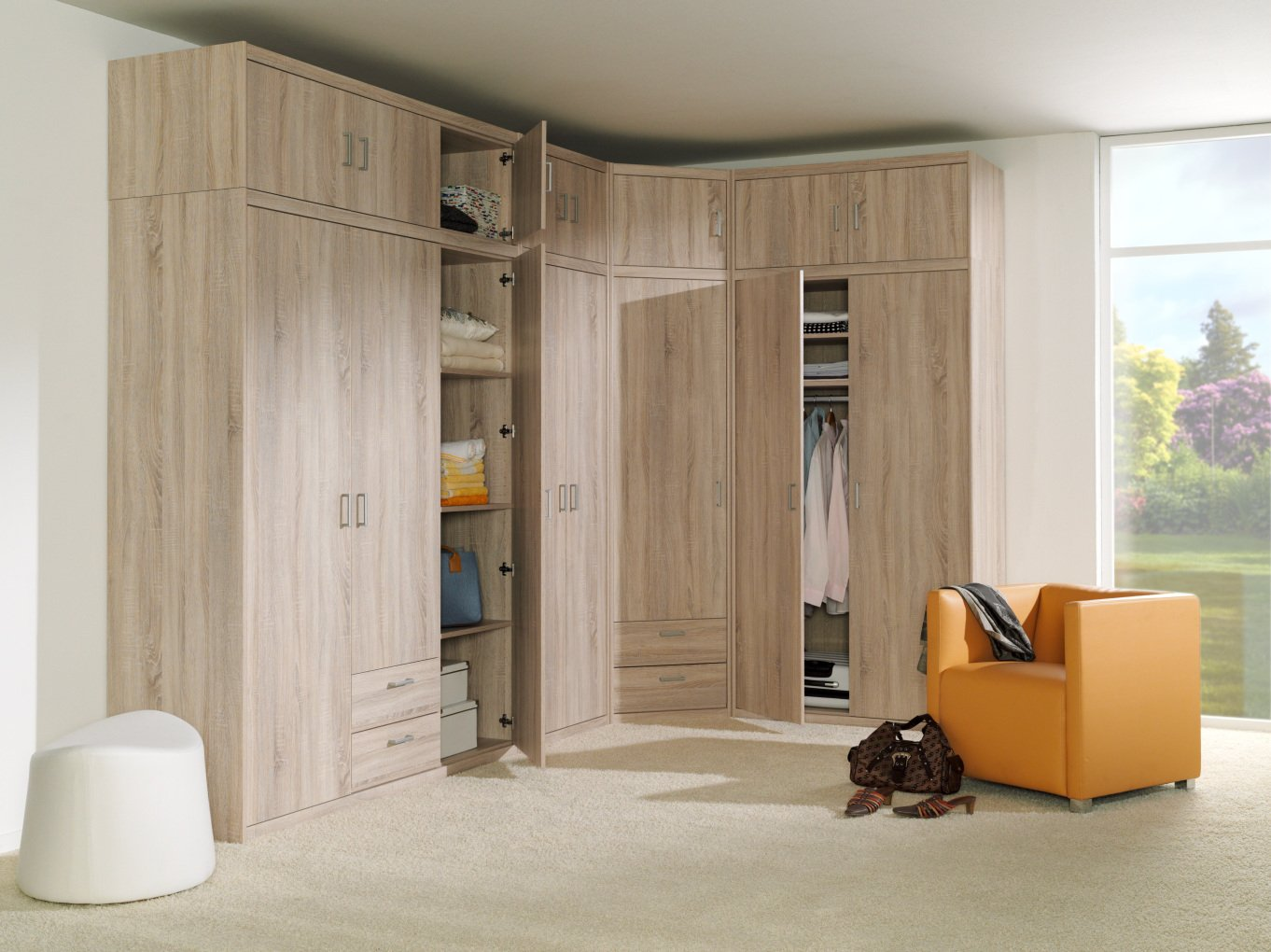 ahorn kleiderschr nke schlafzimmer romantik mit. Black Bedroom Furniture Sets. Home Design Ideas