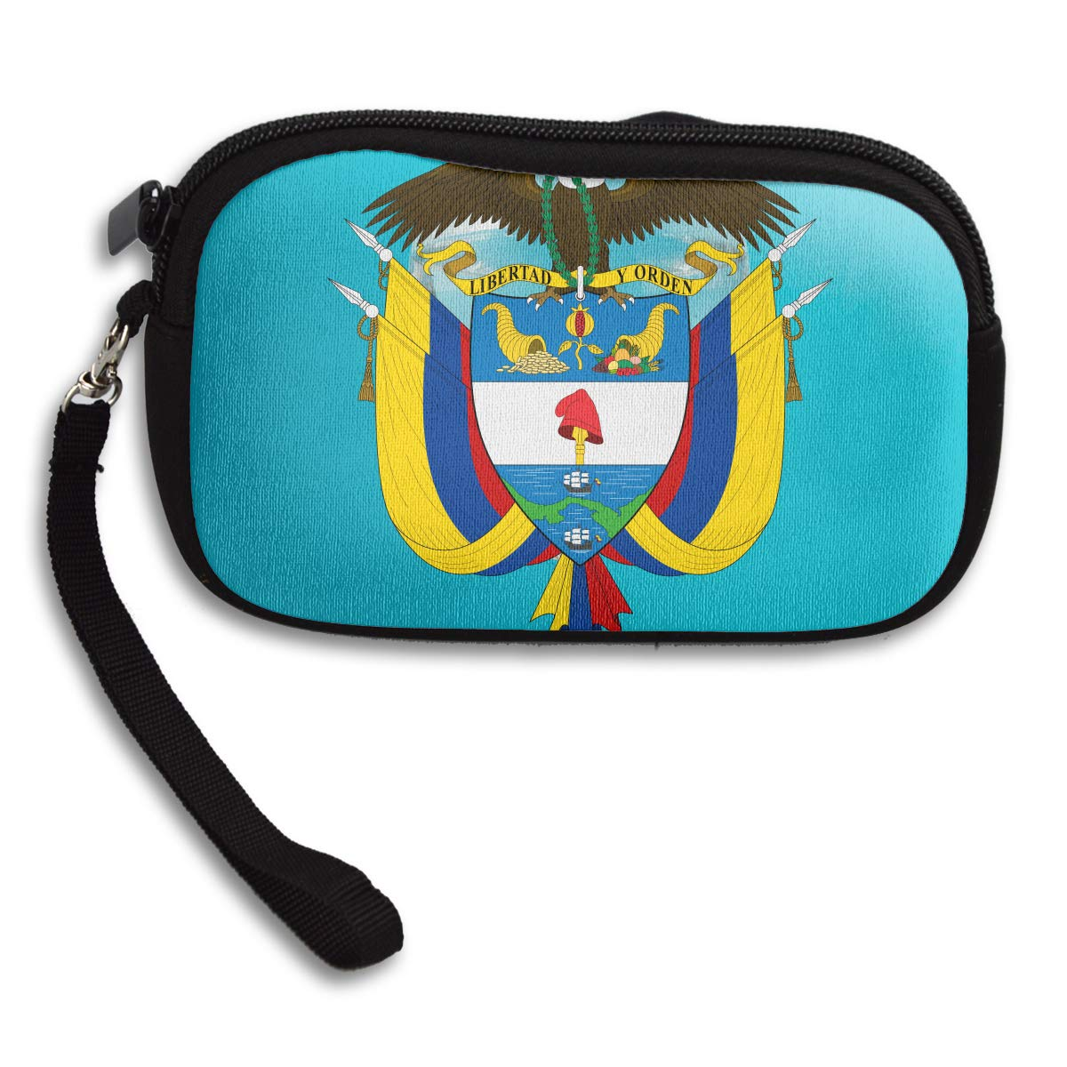 Coat Of Arms Of Colombia Sign Deluxe Printing Small Purse Portable Receiving Bag