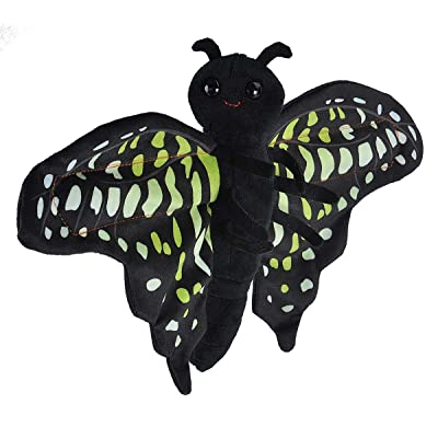 "Wild Republic Huggers Butterfly Tailed Jay Plush Toy, Slap Bracelet, Stuffed Animal, Kids Toys, 8"": Toys & Games"