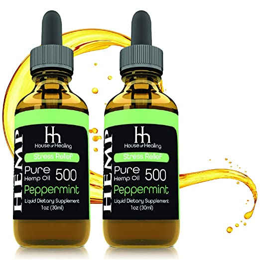 $47.99 (reg $86) (2 Pack) Hemp Oil for Pain Anxiety Relief :: (500mg per Bottle)