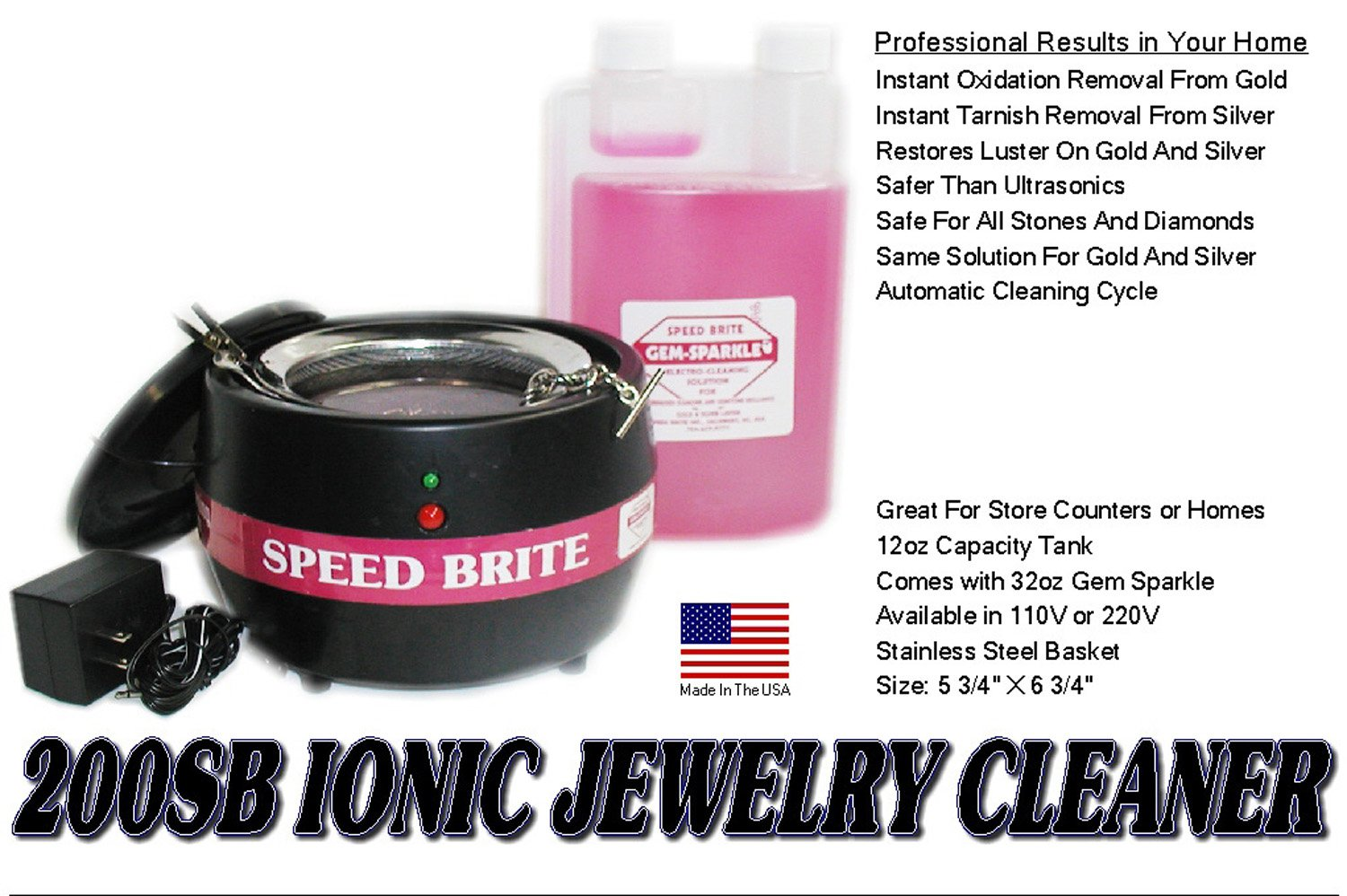 Speed Brite Turbo Ionic Cleaner 200SB