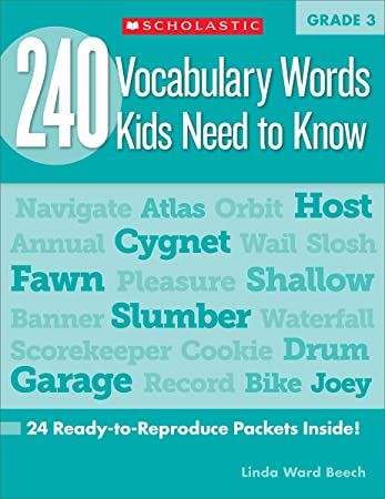 240 Vocabulary Words Kids Need to Know: Grade 3: 24 Ready-to ...