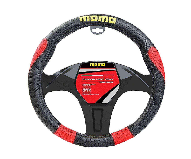 MOMO momlswc006br Custodia per Volante, Nero/Rosso
