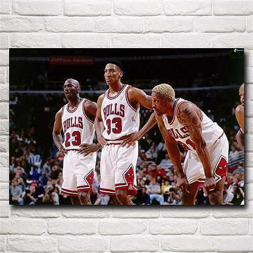 Basketball Star,Dennis Rodman,Scottie Pippen,Wall Art Home Wall Decorations