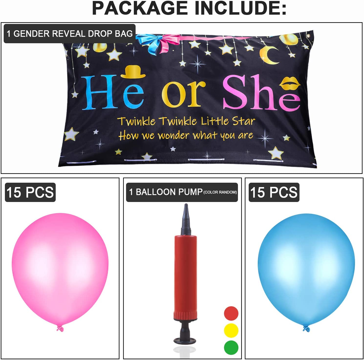 Gejoy Sex Betrayal Party Decoration Sex Betrayal Balloons Traps Bag With Pink And Blue Balloons For Boys Or Girls Sex Party Game Baby Shower Photo Background Spielzeug