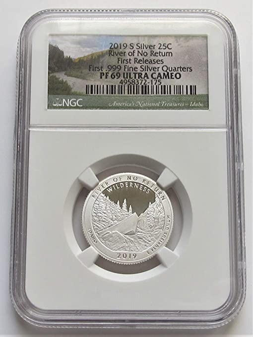 2019 S First .999 Fine Silver Kennedy Half Dollar NGC PF69 First Releases coin P