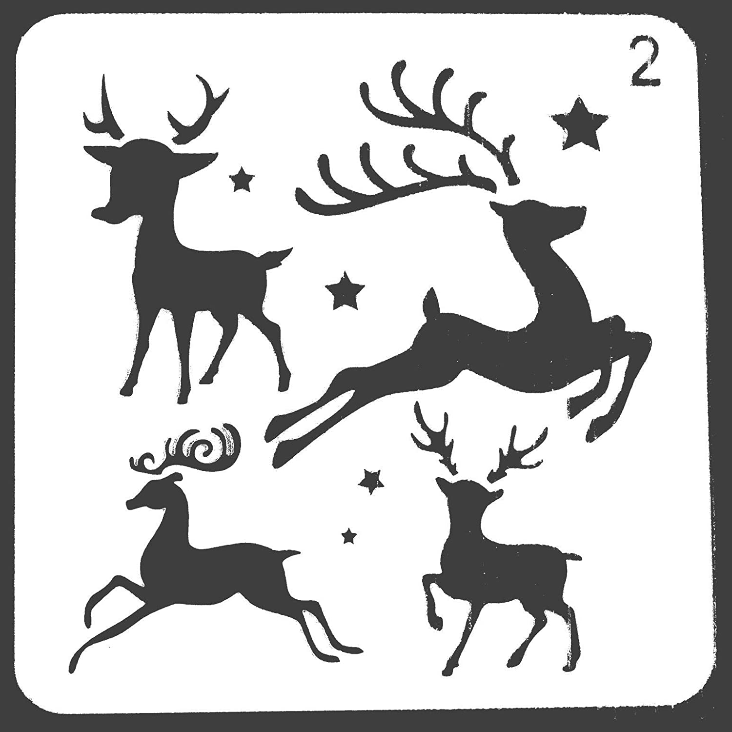 Trees Balls Gift Boxes Christmas Holiday Craft Party Decorations Santa Claus Zest ST Christmas Stencils Templates 8 Piece Merry Christmas Happy New Year Reindeers Snowman,Snowflakes