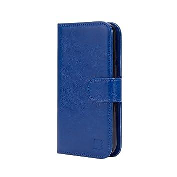 32nd® Funda Flip Carcasa de Piel Tipo Billetera para Alcatel Pixi 4 (5) (Pantalla de 5 Pulgadas, Version 4G Solo, Ref del Modelo Empieza por OT-5045) ...