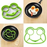 Fried egg pancake molds,GOODCULLER Silicone Shaped Fried Eggs Frog Shaper Breakfast Kitchen Cooking Tool