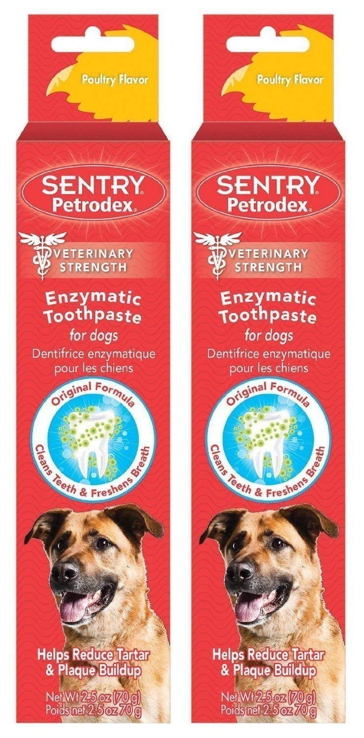 Petrodex Enzymatic Toothpaste for Dogs - Poultry Flavor, 2.5-Ounce, 2 Pack by Sergeant's
