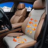 KINGLETING 12-Volt Heated Seat Cushion with Intelligent Temperature Controller.(Grey)