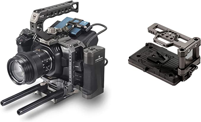 Ansso V-Mount V-Lock Battery Power Plate with 2pin Female Connector for Blackmagic BMPCC 4K 6K Cinema Camera