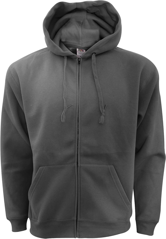 Fruit of the Loom Mens Zip Through Hooded Sweatshirt//Hoodie