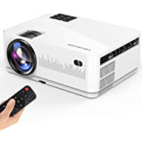 Megawise L21 Full HD 1080p 5000-Lumens LCD Mini Projector (White)