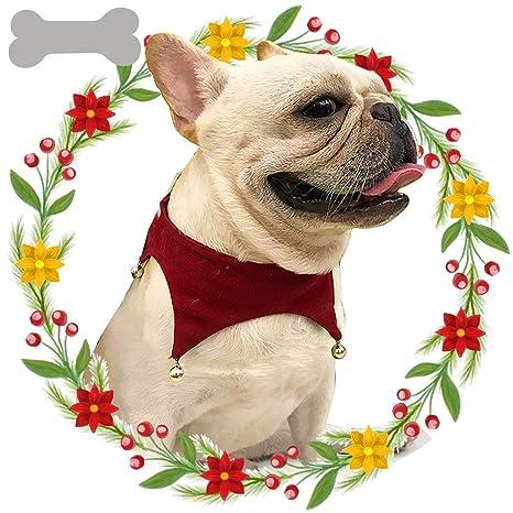 Lamzoom - Bufanda de Navidad para Mascotas, diseño de Perro pequeño, Gatos, Mascotas