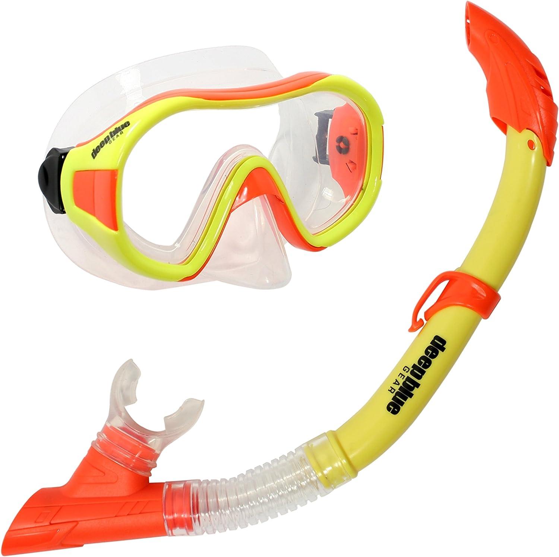 Deep Blue Gear Playa Jr. Diving Mask and Semi-Dry Snorkel Set, Kid's