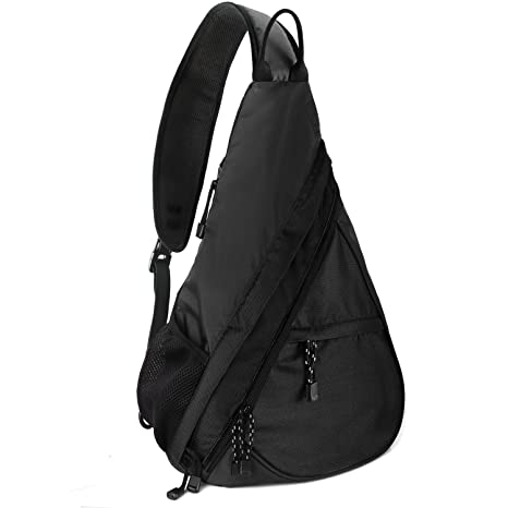 Unigear Shoulder Chest Crossbody Sling Bag Pack Backpack for Men Women  Girls Boys (Black) c95a0f4352