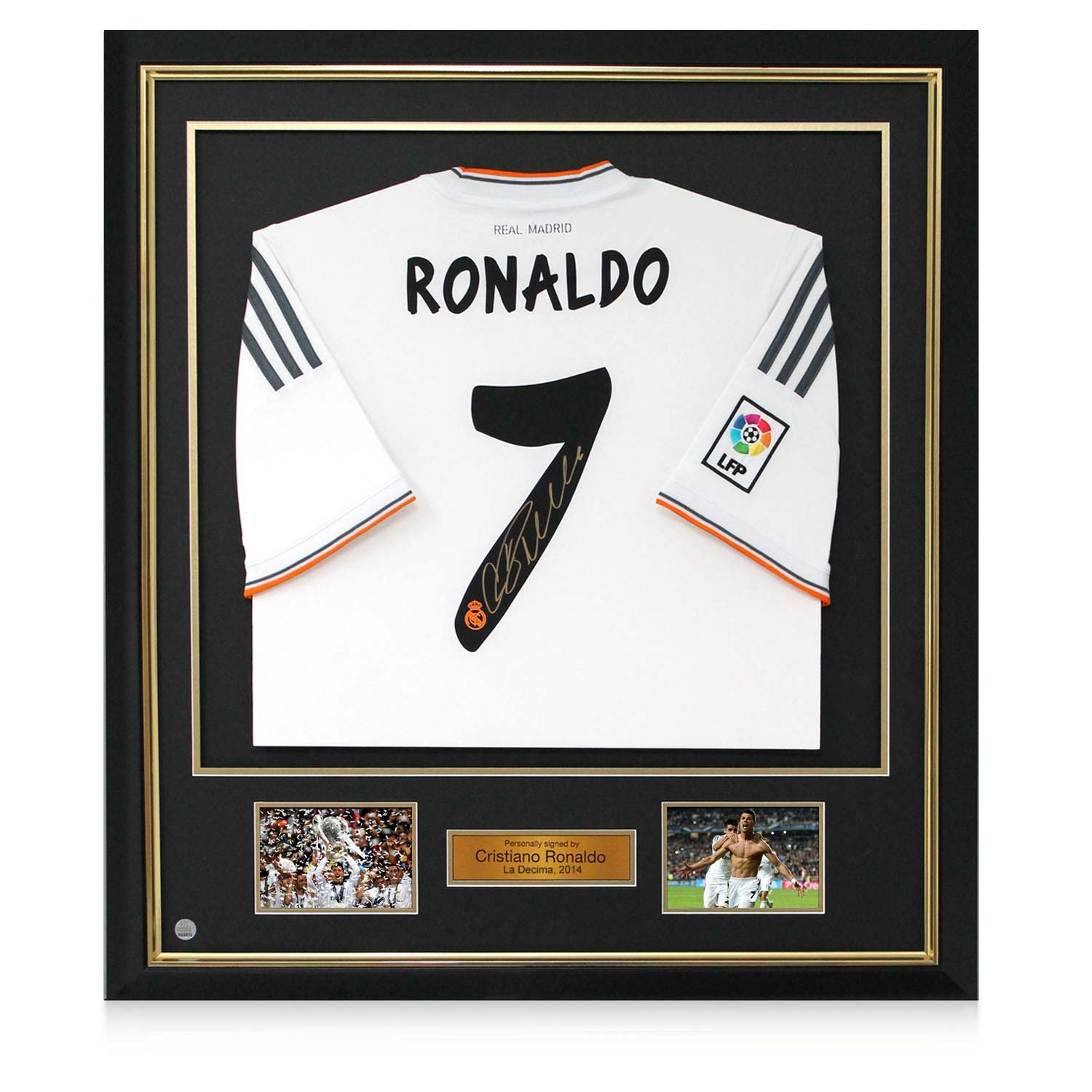 Exclusive Memorabilia Gerahmte Cristiano Ronaldo Signed Real Madrid ...